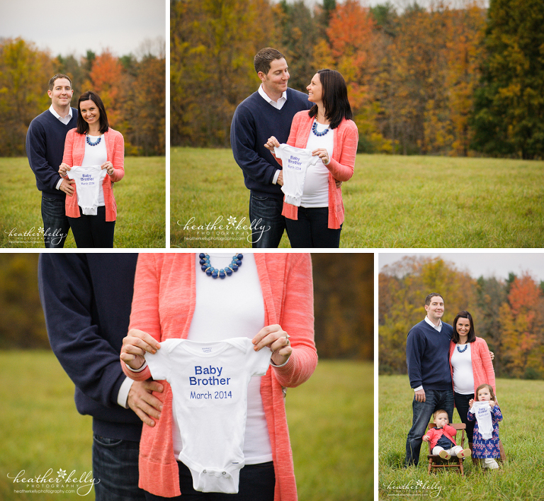 pregnancy announcement - heather kelly photography - newtown ct family photographer