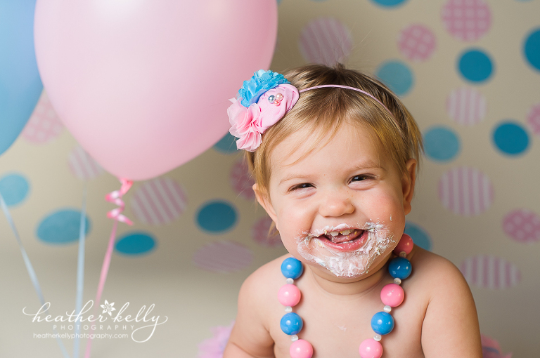 CT cake smash photographer - cotton candy cake smash