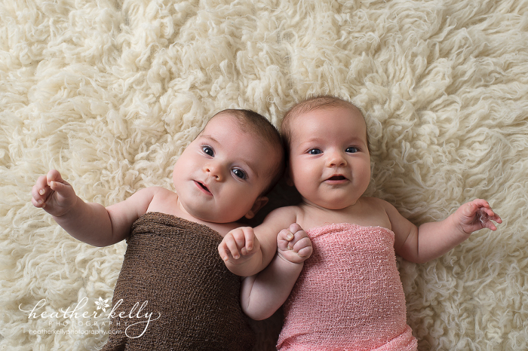 3 month CT baby twin photographer in Southbury