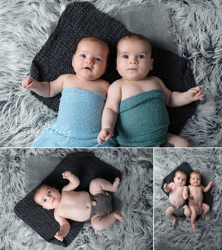 3 month old baby twins