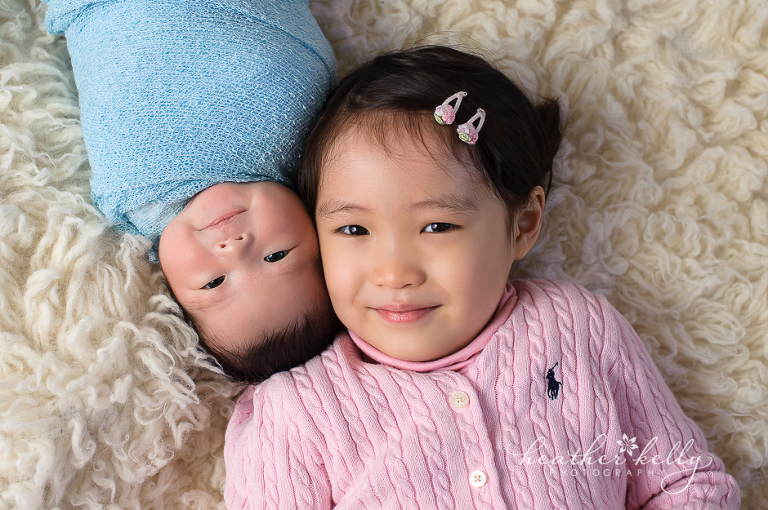 newborn and sibling trumbull ct newborn photographer