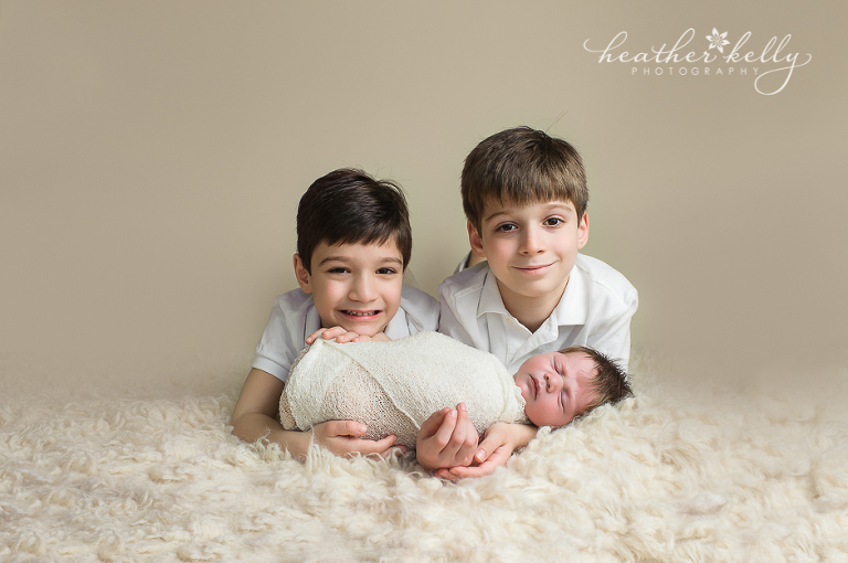 newtown ct newborn photographer 3 brothers