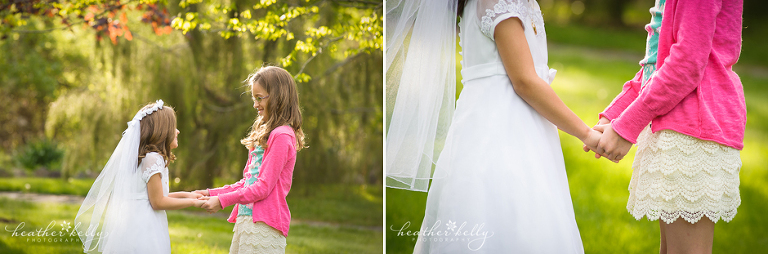 easton ct family photographer sisters holding hands