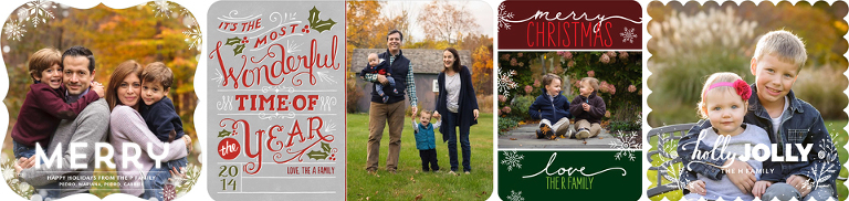 order your holiday cards through tinyprints  ct family photographer