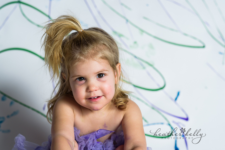 ct child photography finger painting photo session