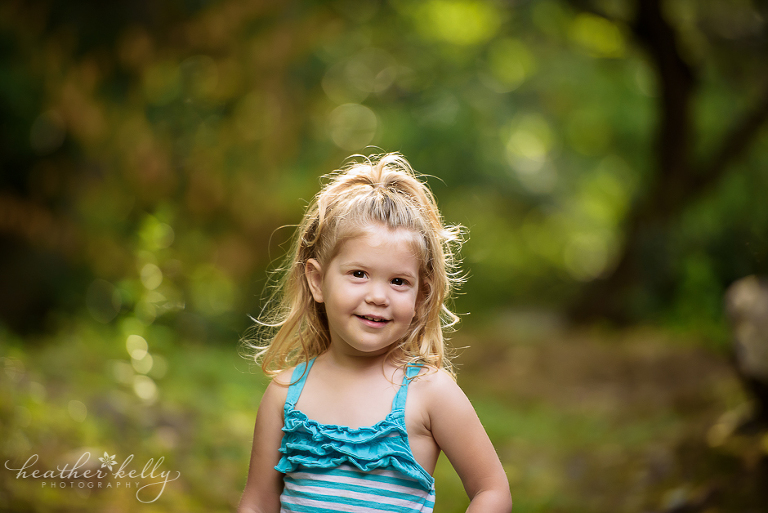 two year old girl with blonde hair