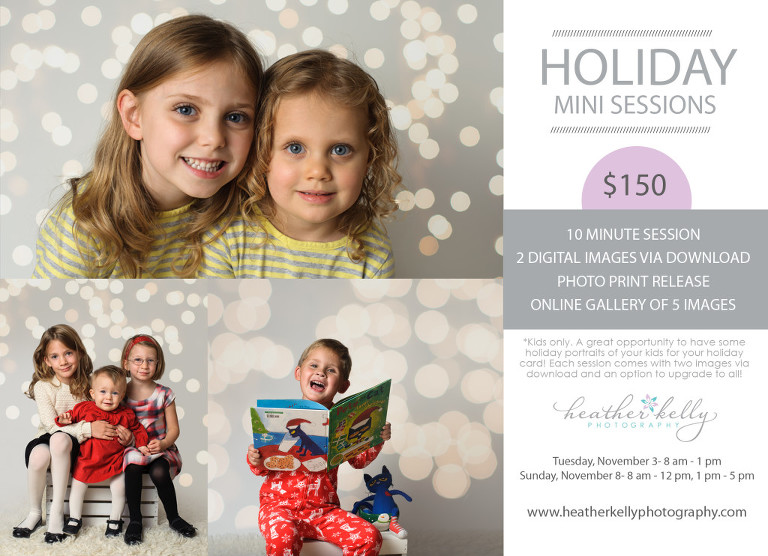 CT holiday session information from Heather Kelly Photography