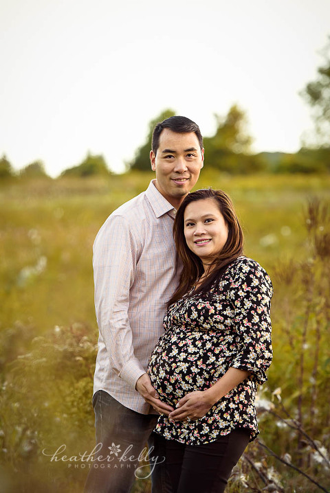 maternity session with mom and dad 36 weeks