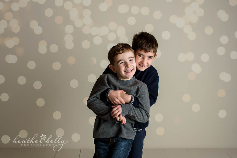 twinkle lights and brothers photo