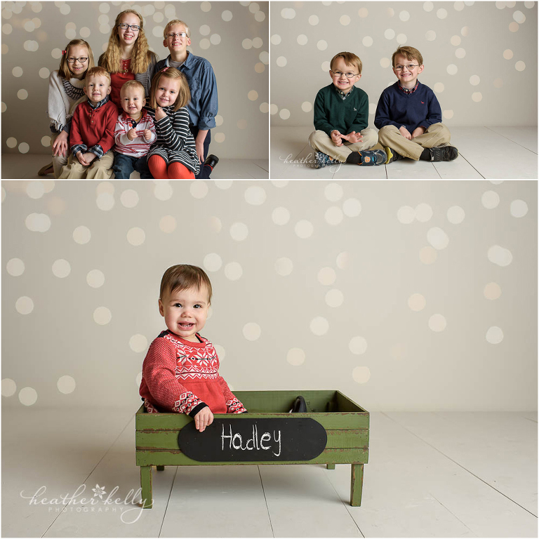 group of twinkle light mini sessions photo