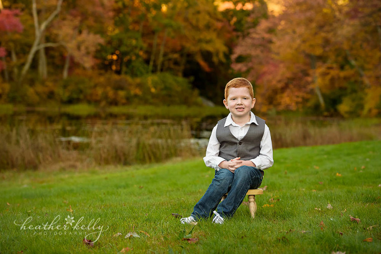 boy portrait fall photo