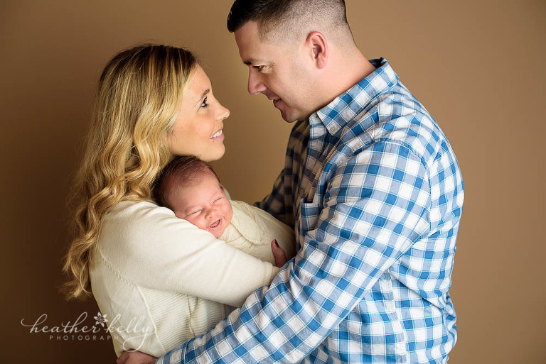 newborn photo of parents and baby boy trumbull ct