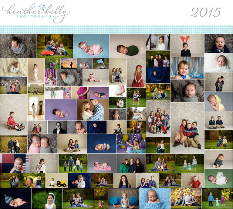 2015 ct newborn family photographer year in review collage photo