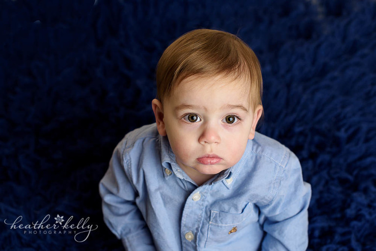 one year old baby boy with navy background adorable danbury baby