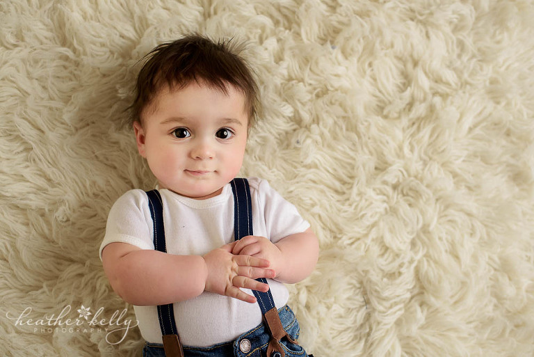 adorable 6 month baby boy photo monroe baby photos ct photographer
