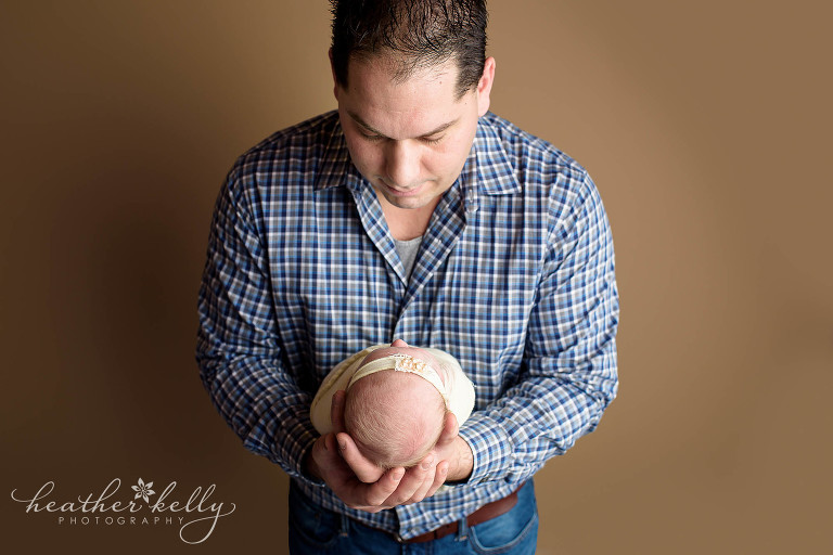 dad and newborn photography. newtown newborn girl. ct photography