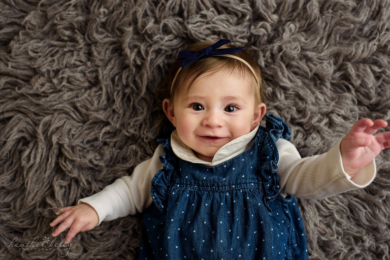 6 month photo shoot. monroe baby photography.
