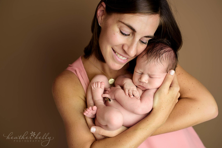 mom and newborn girl photo. newborn love ct photography