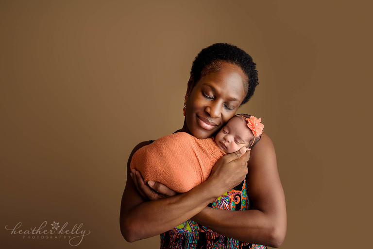 mom and wrapped newborn. newborn love. ct photographer