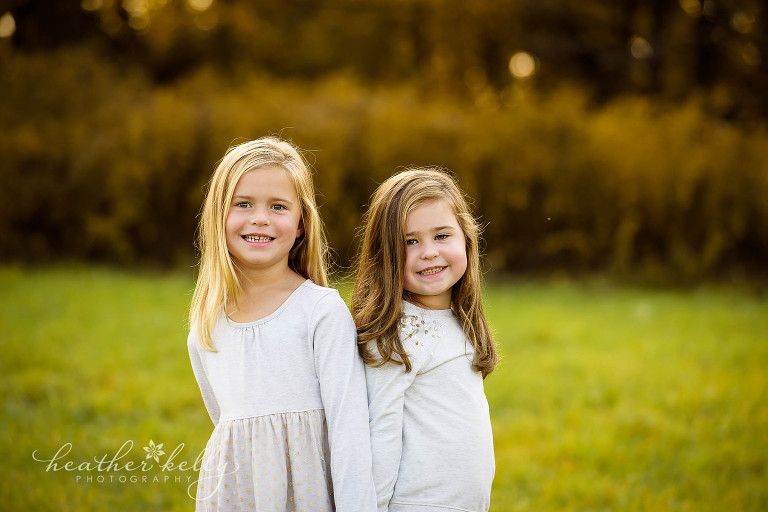 professional photo of sisters. fall family photography