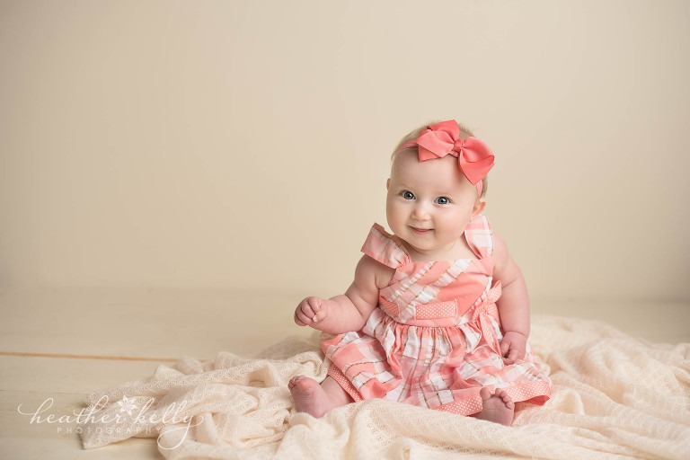 sitting baby girl. newtown ct photography