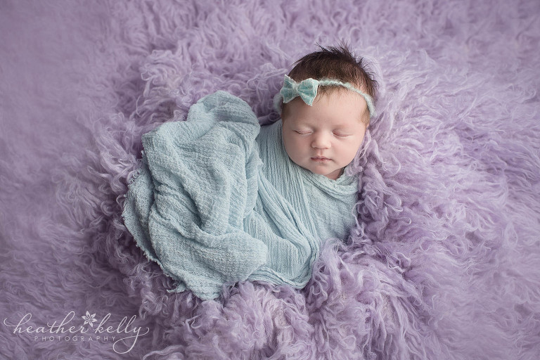 cute baby girl wrapped. plainville ct newborn photography