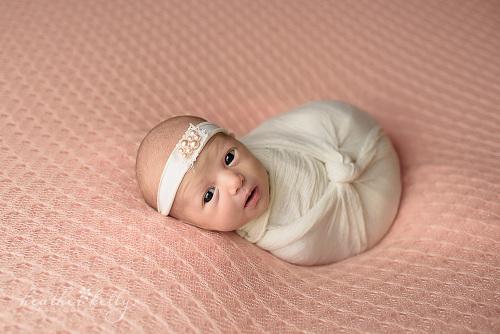 Newborn photography ct baby girl