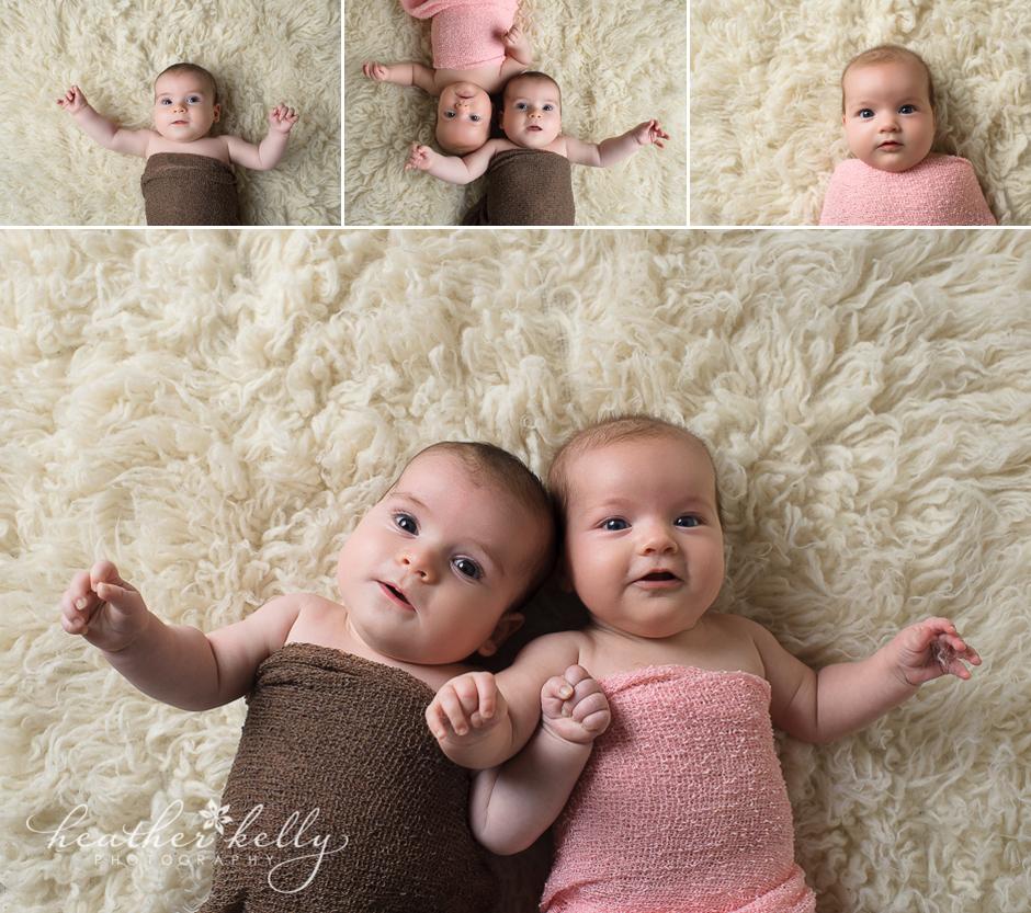 Studio Lighting Newborn Photography: Baby Twin Photographer In CT