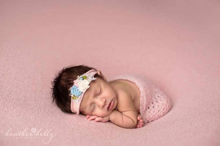 Baby girl newborn photography poses taco